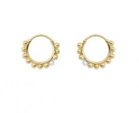 Anna + Nina - Cosmic dust ring earring