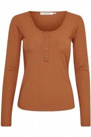 Gestuz - Rollo Long Sleeve Tee Caramel