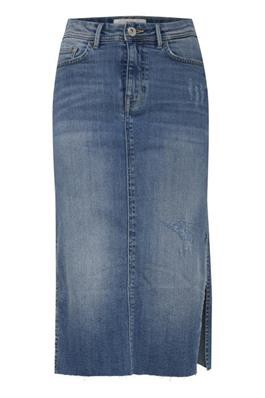 Ichi - Giraz denim skirt blå