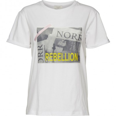NORR - Hvid t-shirt m/tryk