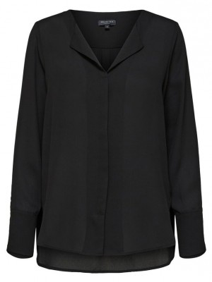 Selected Femme - Stina-Dynella shirt sort