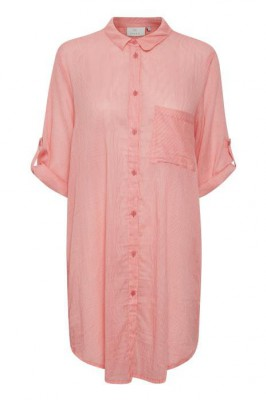 Kaffe - Jensine Shirt Dress 3/ Sleeve Picante