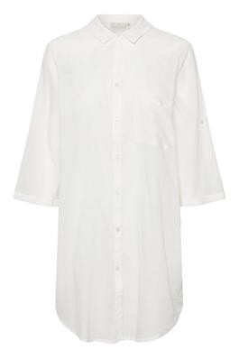 Kaffe - Rona shirt dress Chalk