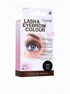 Depend eyelash og brow colour, sort