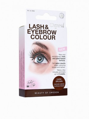 Depend lash og eyebrow colour, brunsort