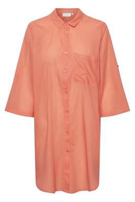 Kaffe - Rona shirt dress Living Coral