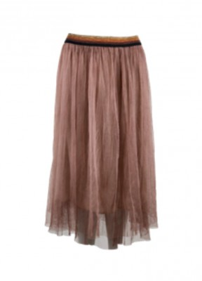 Black Colour - Kine Skirt Antique Rose