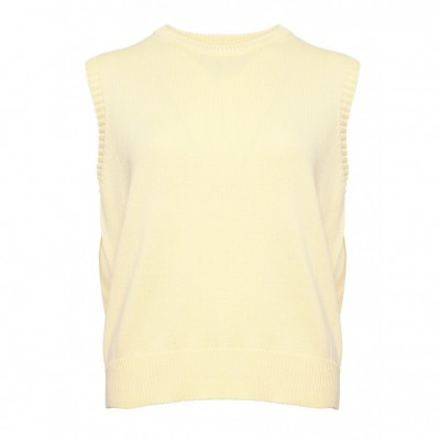 Noella - Alie Strik Vest Soft Yellow