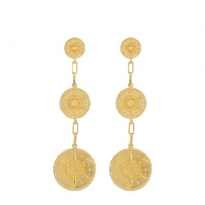 Anna + Nina - Multi Coin Earrings