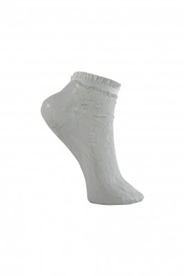 Black Colour - Aria lace ancletsock white