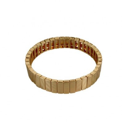 Black Colour - Dori square bracelet Gold