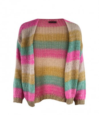 Black Colour - Filuca Cardigan Pastel Multi