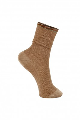Black Colour - Heeringbone sock frappe