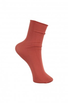 Black Colour - Ida short sock orange