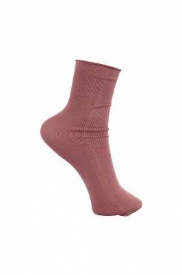 Black Colour - Ida short sock rose