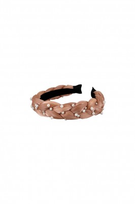 Black Colour - Kinsley braided headband rose