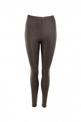 Black Colour - Sylvana leggings taupe gold