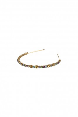 Black Colour - Malia stone headband pastel