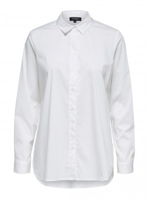 Selected Femme - Ori side zip shirt White
