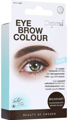 Depend eyebrow colour, brunsort
