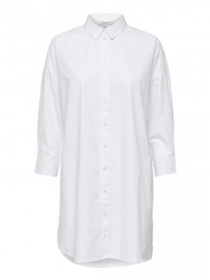 Selected Femme - Ami long shirt white