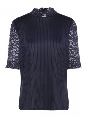 Y.A.S - Blace Loose Top Navy