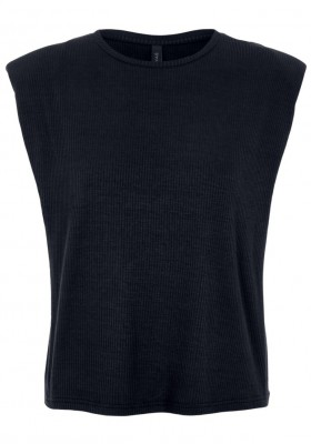 Y.A.S - Elle padded shoulder top black