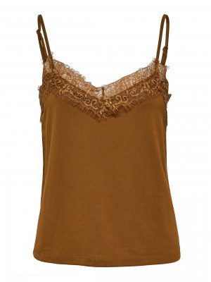 Selected Femme - Ella Lace bronz brown