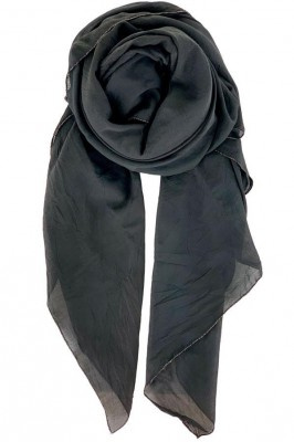 Black Colour - Emma plain scarf Black