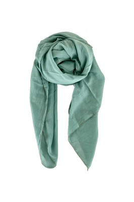 Black Colour - Emma plain scarf Olive