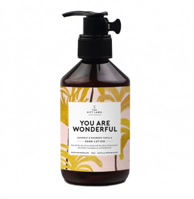 "The Gift Label - Hand Lotion ""You are wonderful"""
