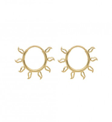 ANNA + NINA - Flame Earrings Medium Guld