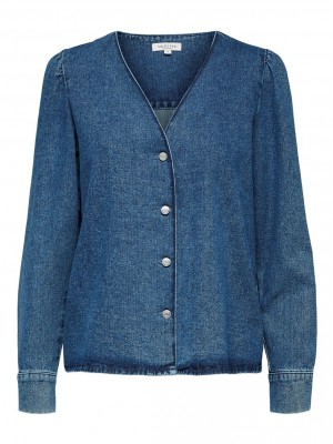 Selected Femme - Harper Blue Denim Shirt