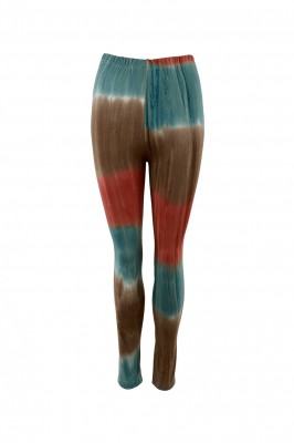 Black Colour - Coral tiedye leggings