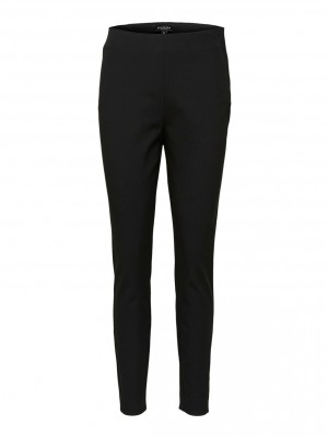 Selected Femme - Ilue Cropped Slim Pant Black