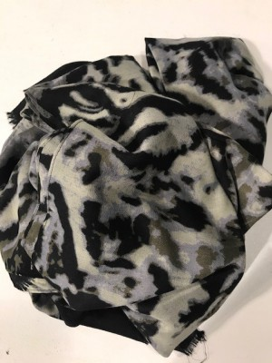 Three M - Scarve black/grey Tiger print