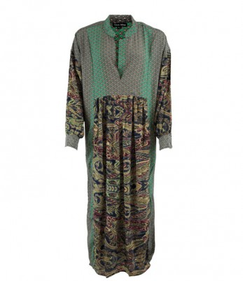 Black Colour - Luna kaftan dress green