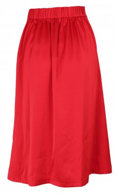 Neo Noir - Junes Satin Skirt Red