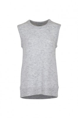 Neo Noir - Kasia knit vest light grey