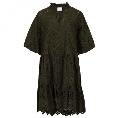 Neo Noir - Kiko Embroidery Dress Army