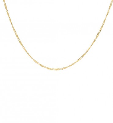 ANNA + NINA - Liana Plain Necklace Long Guld