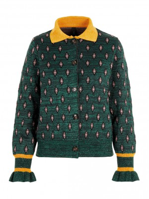 Y.A.S - Lin Cardigan evergreen