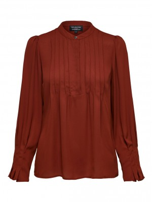 Selected Femme - Livia top Smoked Paprika
