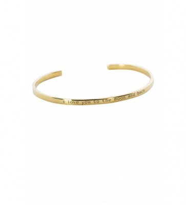 ANNA + NINA - Love you to the moon and back Cuff Guld