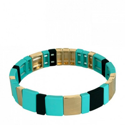Black Colour - Dori square bracelet Mint