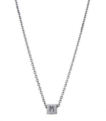 Stine A Jewelry - MOM necklace w/diamond, black