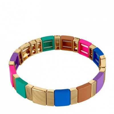 Black Colour - Dori square bracelet Multi