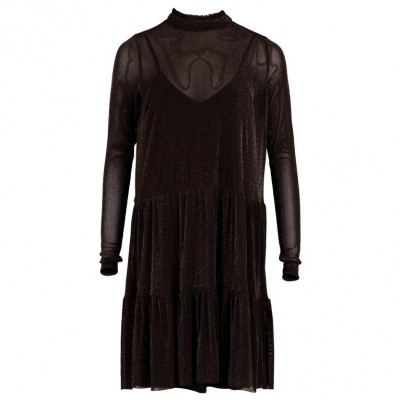 Neo Noir - Kala Mesh Dress Chocolate Brown