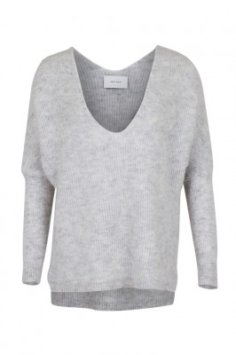 Neo Noir - Powel Knit Blouse Light Grey Melange