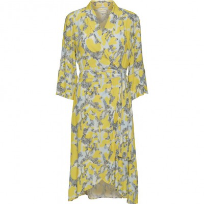Norr - Marla Dress Blue/Yellow